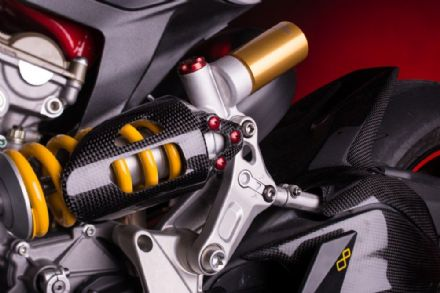 Lightech Carbon Fibre Rear Shock Absorber Cover Ducati 899/1199/1299 Panigale 2012>